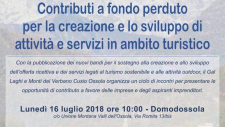 """Presentazione pubblica bandi """"Turismo sostenibile"""""""
