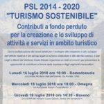 Locandina incontri presentazione Turismo