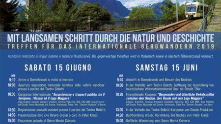 A passo lento nella Natura e nella Storia. Incontro dell'Escursionismo internazionale 2019.